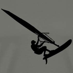 Windsurfer (Vector) - Men's Premium T-Shirt