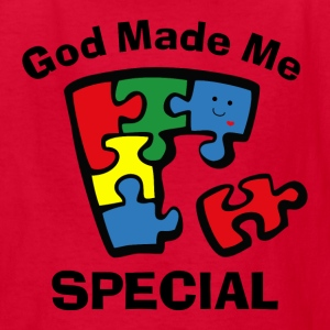 Autism God Made Me Special Kids' Shirts - Kids' T-Shirt
