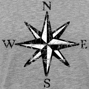 Compass Rose Vintage Bicolor T-Shirt - Men's Premium T-Shirt