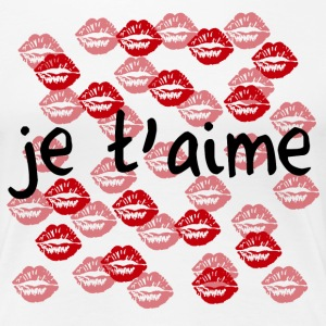 je t'aime - love - Women's Premium T-Shirt