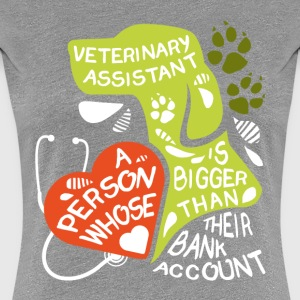 Veterinary Assistant bank account T-shirt Women's T-Shirts - Women's Premium T-Shirt