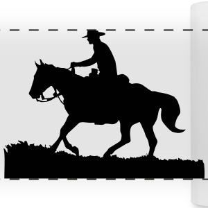 Cowboy 1 Mugs & Drinkware - Panoramic Mug