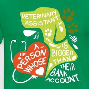 Veterinary Assistant bank account T-shirt T-Shirts - Men's Premium T-Shirt