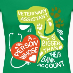 Veterinary Assistant bank account T-shirt Women's T-Shirts