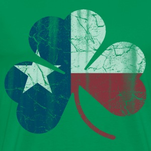 Vintage Irish Flag of Texas Shamrock T-Shirts - Men's Premium T-Shirt