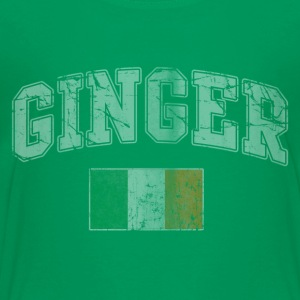 Vintage Ginger Flag of Ireland  Kids' Shirts - Kids' Premium T-Shirt