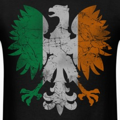 Polish White Eagle Irish Flag T-Shirts