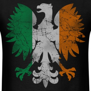 Polish White Eagle Irish Flag T-Shirts - Men's T-Shirt