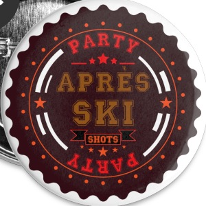 Apres Ski Party Logo Buttons - Small Buttons