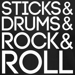 Sticks Drums Rock + Roll T-Shirts - Men's T-Shirt by American Apparel