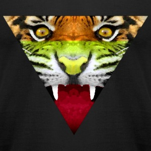 Tiger Hipster T-Shirts - Men's T-Shirt by American Apparel