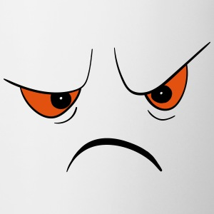 Angry Face Mugs & Drinkware - Coffee/Tea Mug