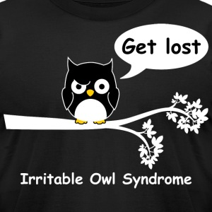 Irritable owl syndrome 4 T-Shirts - Men's T-Shirt by American Apparel