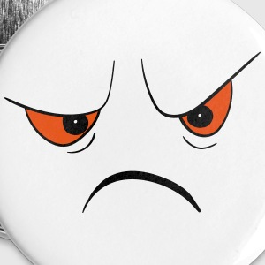 Angry Face Buttons - Small Buttons