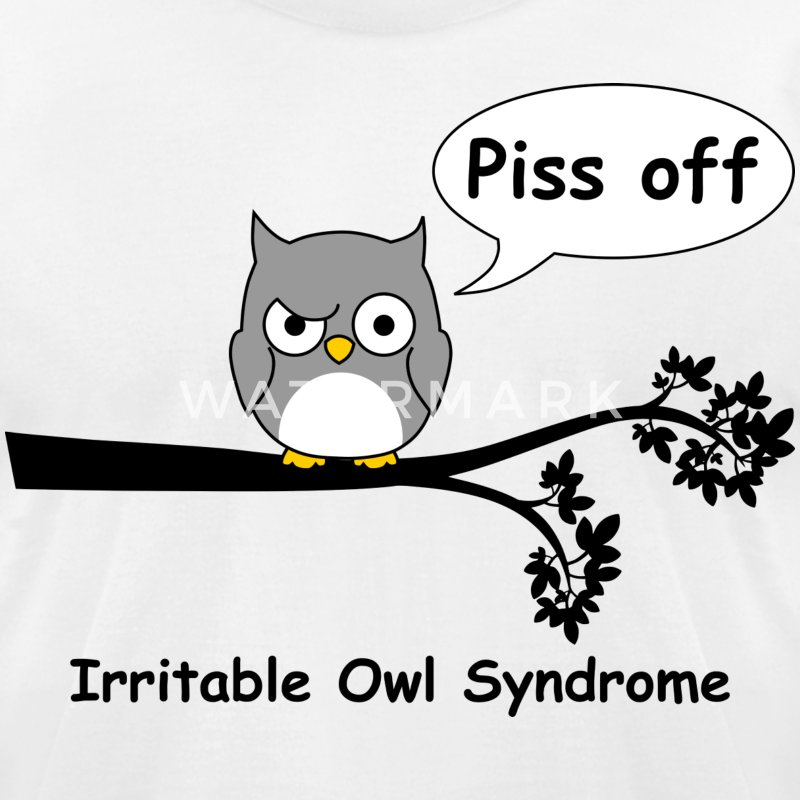 Irritable owl syndrome 1 T-Shirts - Men's T-Shirt by American Apparel