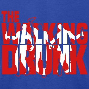 the walking drunk T-Shirts - Men's T-Shirt by American Apparel