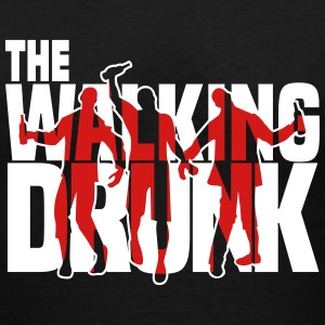 the walking drunk Women's T-Shirts - Women's V-Neck T-Shirt
