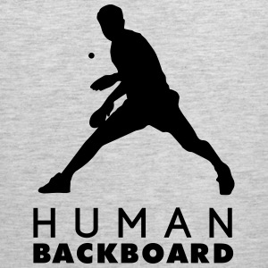table tennis: human blackboard Tank Tops - Men's Premium Tank