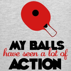 my balls have seen a lot of action Tank Tops - Men's Premium Tank