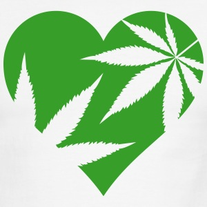 cannabis love T-Shirts - Men's Ringer T-Shirt