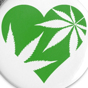 cannabis love Buttons - Small Buttons