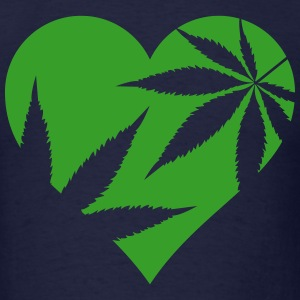 cannabis love T-Shirts - Men's T-Shirt