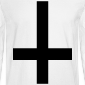 upside down gothy cross Long Sleeve Shirts - Men's Long Sleeve T-Shirt