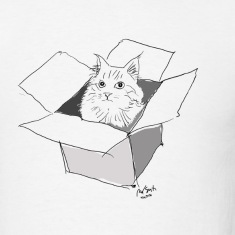 Cat in the Box - Men's T-Shirt