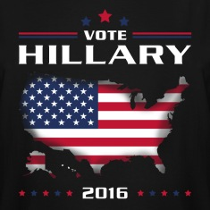 Vote for Hillary white T-Shirts