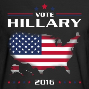 Vote for Hillary white Long Sleeve Shirts - Men's Long Sleeve T-Shirt