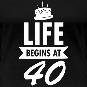 Life Begins At 40 Women's T-Shirts - Women's Premium T-Shirt