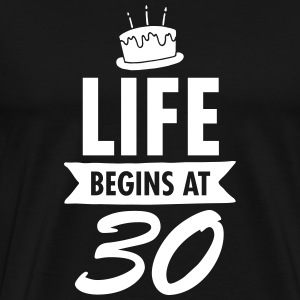 Life Begins At 30 T-Shirts - Men's Premium T-Shirt