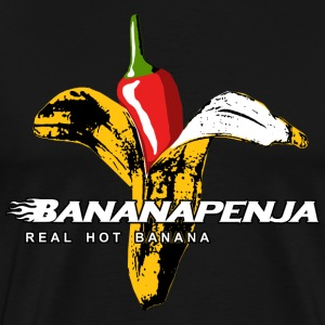 Bananapenja White Text T-Shirts - Men's Premium T-Shirt