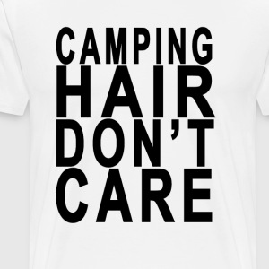 camping_hair_dont_care - Men's Premium T-Shirt