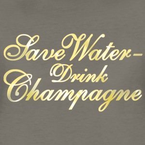 Save Water Drink Champane Women's T-Shirts - Women's Premium T-Shirt