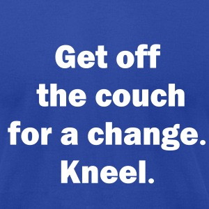 0094 - Couch-Kneel - Men's T-Shirt by American Apparel