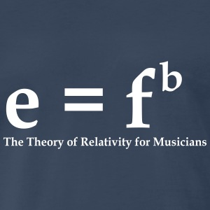 E = Fb, Theory of Relativity for Musicians - Men's Premium T-Shirt