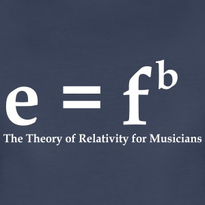 E = Fb, Theory of Relativity for Musicians - Women's Premium T-Shirt