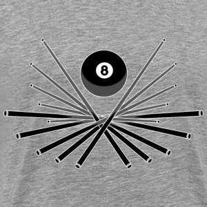 Billard Sign 2 T-Shirts - Men's Premium T-Shirt