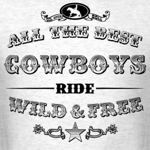 Cowboys Black T-Shirts - Men's T-Shirt