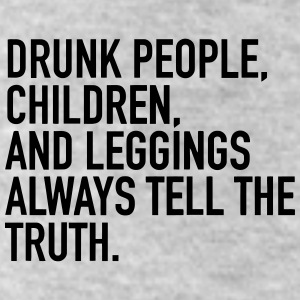 DRUNK PEOPLE ALWAYS TELL THE TRUTH Bottoms - Leggings by American Apparel