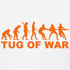 Evolution tug of war Women's T-Shirts - Women's T-Shirt