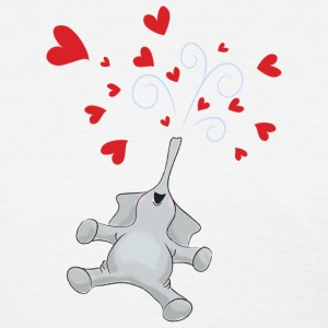 Valentine's Hearts Elephant - Women's T-Shirt