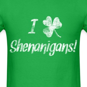 I Love Clover Shenanigans St. Patrick's Day T-Shirts - Men's T-Shirt