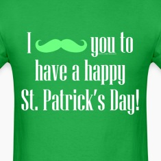 Mustache Cute Happy St. Patrick's Day T-Shirts