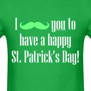 Mustache Cute Happy St. Patrick's Day T-Shirts - Men's T-Shirt