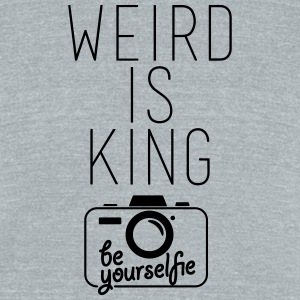 Weird Is King Tee - Unisex Tri-Blend T-Shirt by American Apparel