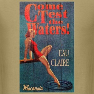 Eau Claire Vintage Tourism - Men's T-Shirt