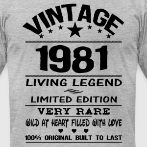VINTAGE 1981 T-Shirts - Men's T-Shirt by American Apparel