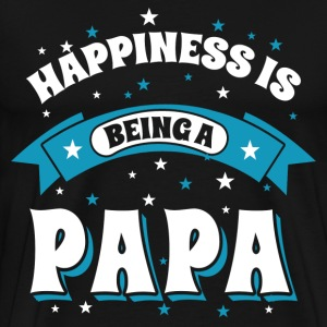 Happiness Is Being a Papa T-Shirts - Men's Premium T-Shirt